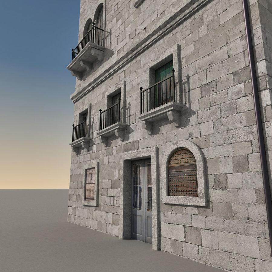 Italiaans gebouw 022 royalty-free 3d model - Preview no. 4