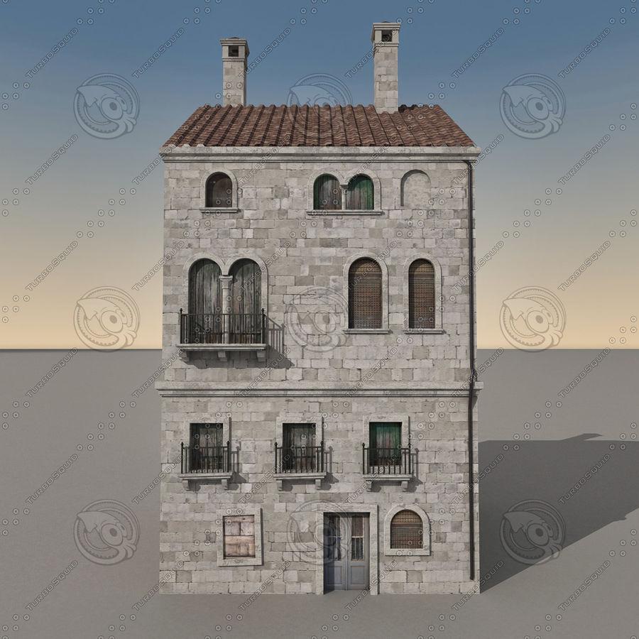 Italiaans gebouw 022 royalty-free 3d model - Preview no. 7