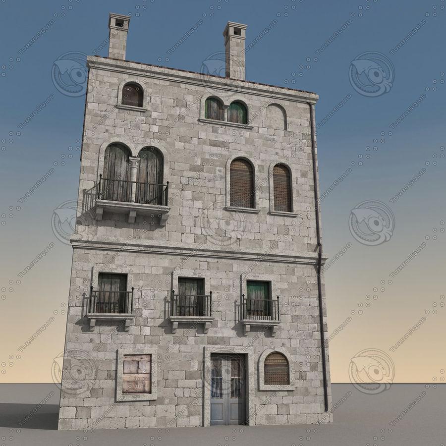 Italiaans gebouw 022 royalty-free 3d model - Preview no. 2