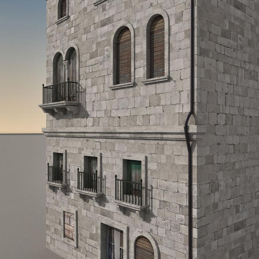 Italiaans gebouw 022 royalty-free 3d model - Preview no. 6