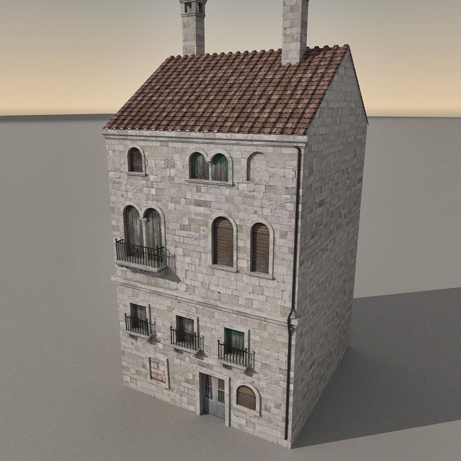 Italiaans gebouw 022 royalty-free 3d model - Preview no. 1
