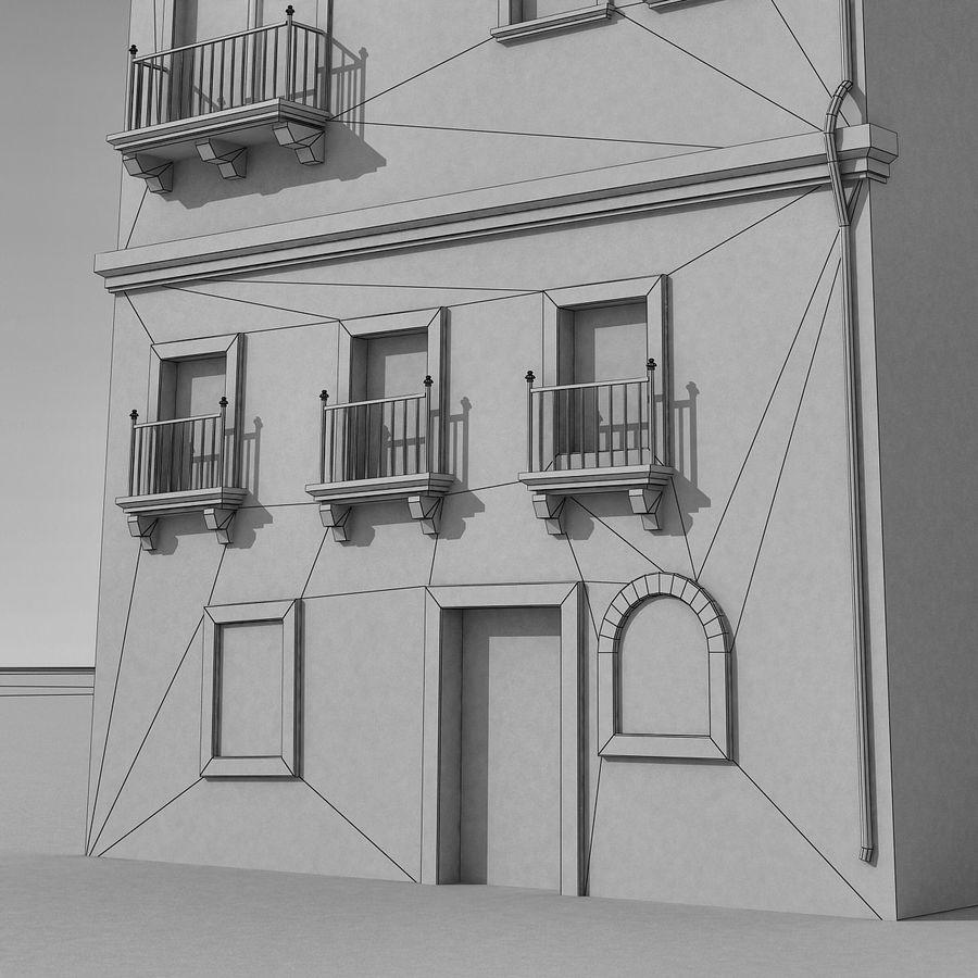 Italiaans gebouw 022 royalty-free 3d model - Preview no. 12
