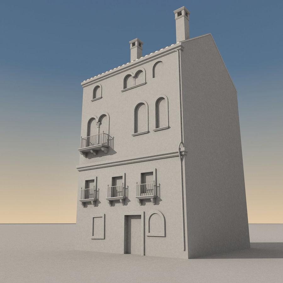 Italiaans gebouw 022 royalty-free 3d model - Preview no. 9