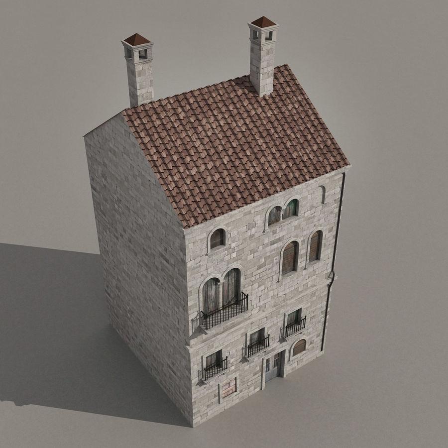 Italiaans gebouw 022 royalty-free 3d model - Preview no. 5
