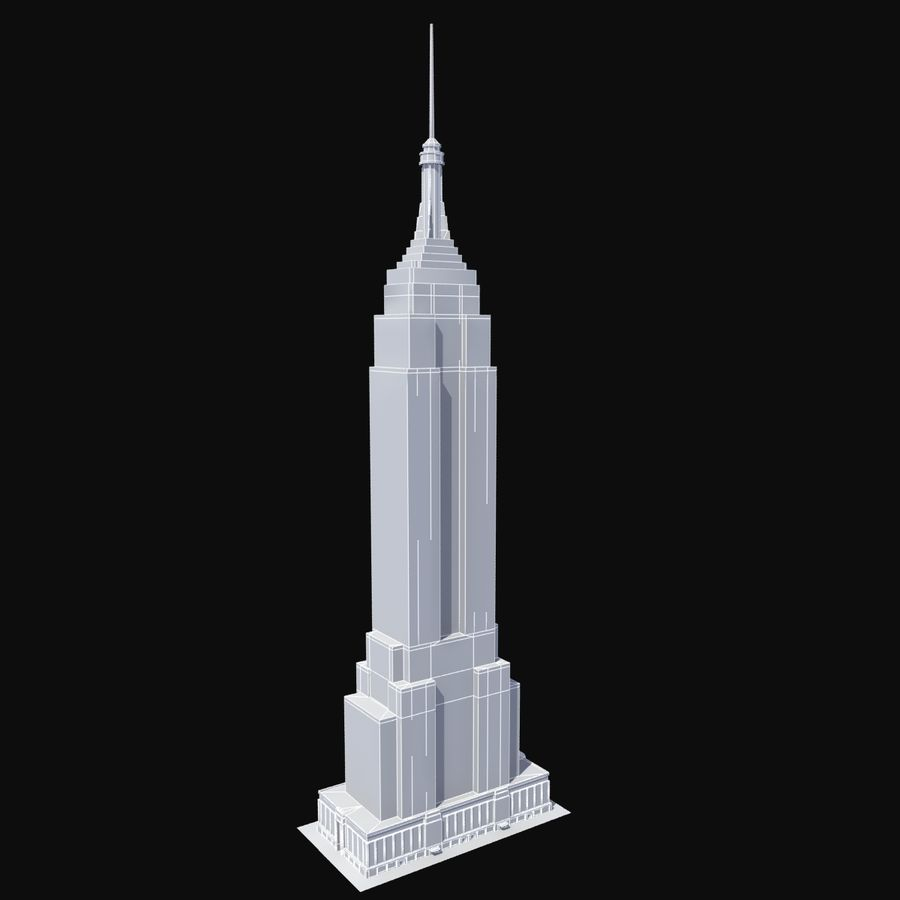 Empire State royalty-free 3d model - Preview no. 7
