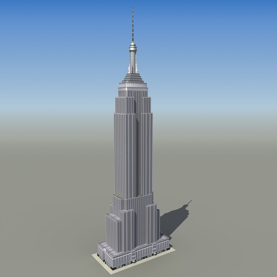 Empire State royalty-free 3d model - Preview no. 2