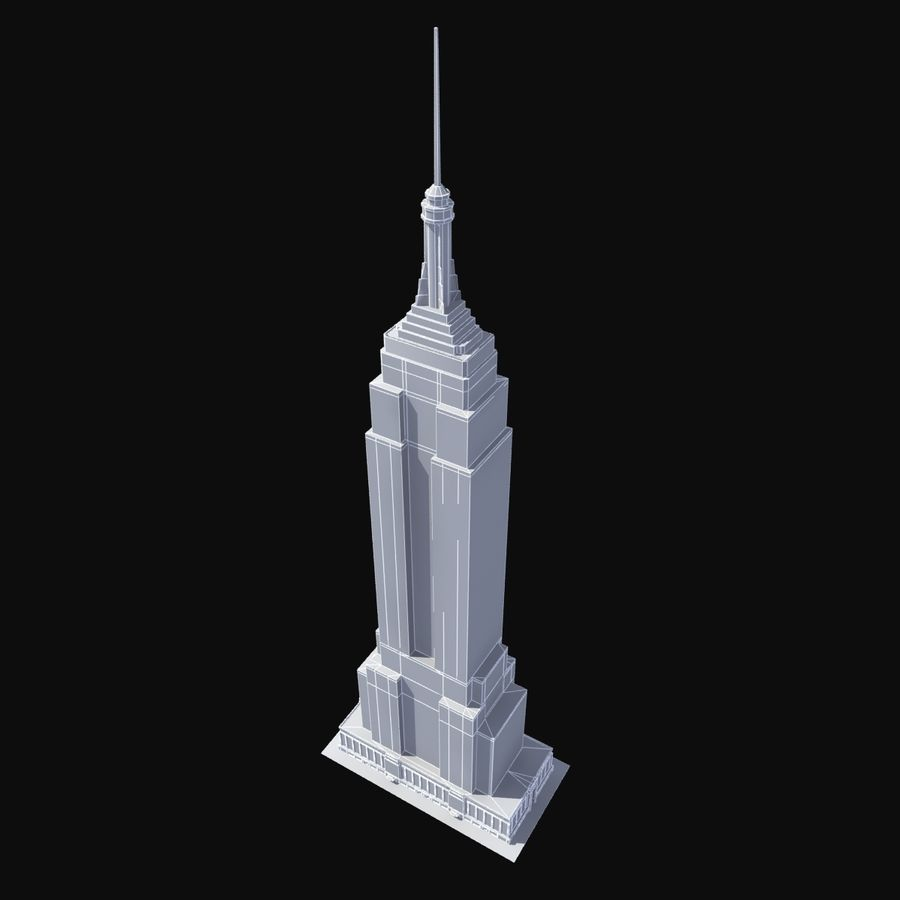 Empire State royalty-free 3d model - Preview no. 8