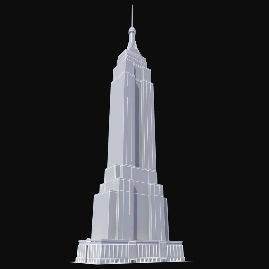 Empire State royalty-free 3d model - Preview no. 9