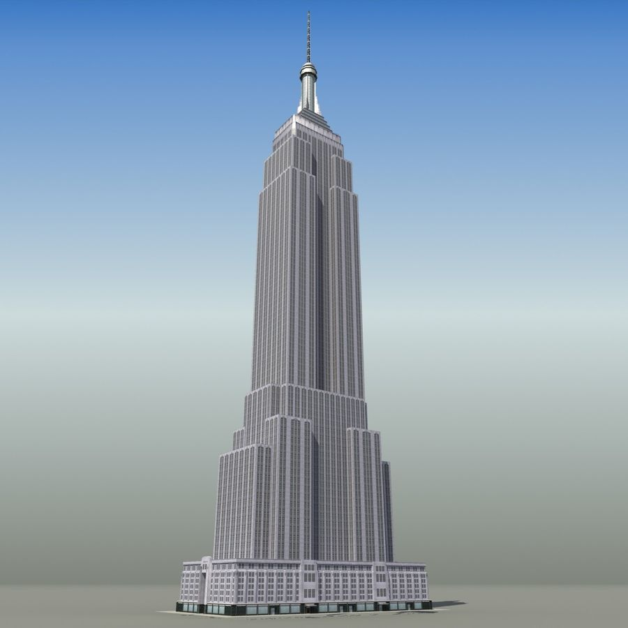 Empire State royalty-free 3d model - Preview no. 5