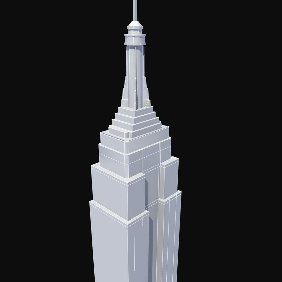 Empire State royalty-free 3d model - Preview no. 10