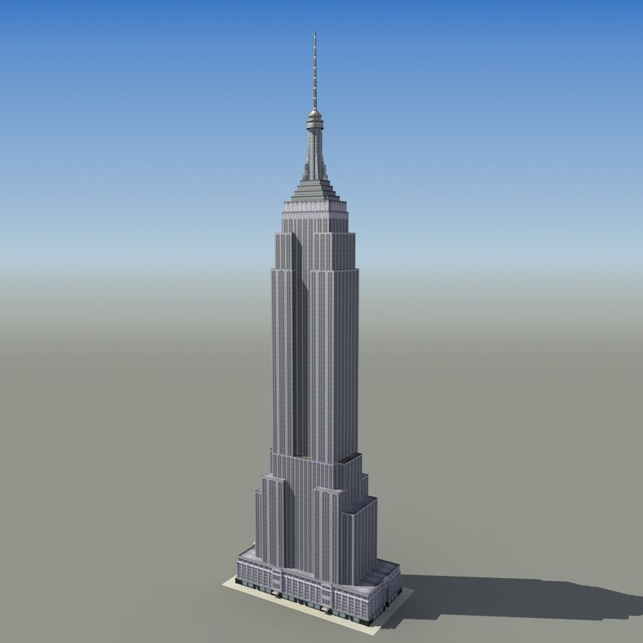 Empire State royalty-free 3d model - Preview no. 3