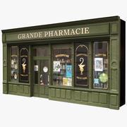 典型的巴黎商店门面18 3d model