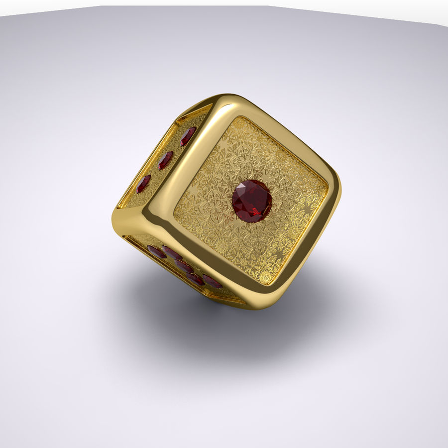 Casino Dice royalty-free 3d model - Preview no. 6
