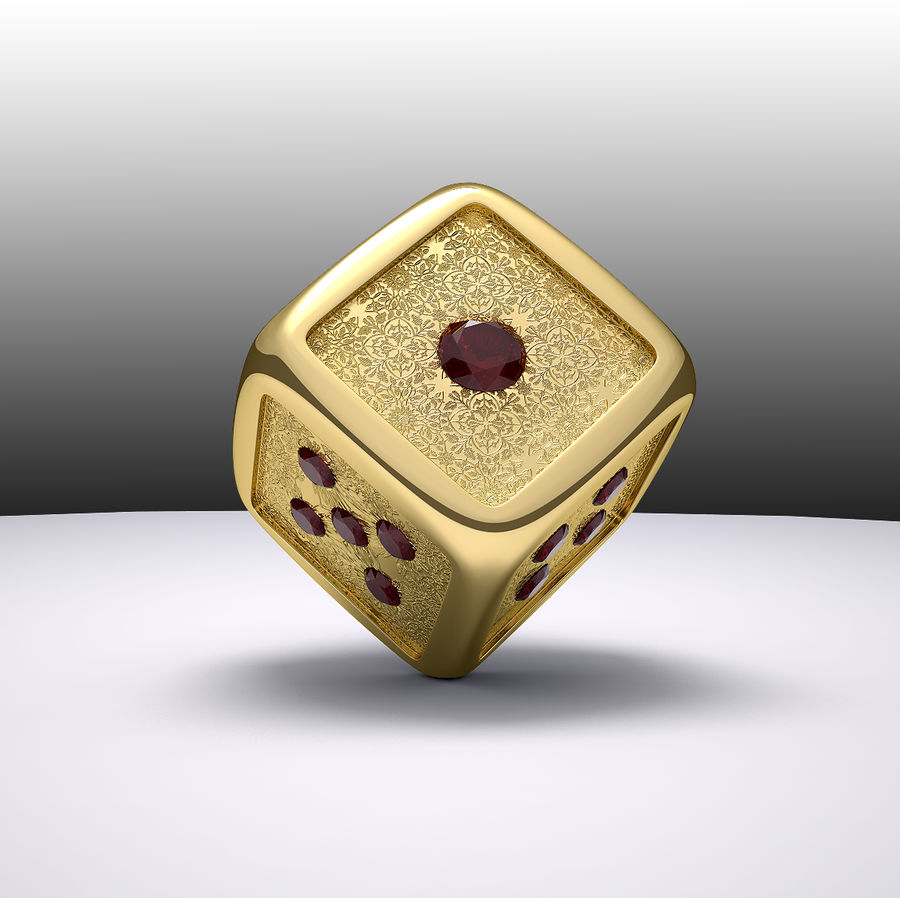 Casino Dice royalty-free 3d model - Preview no. 5