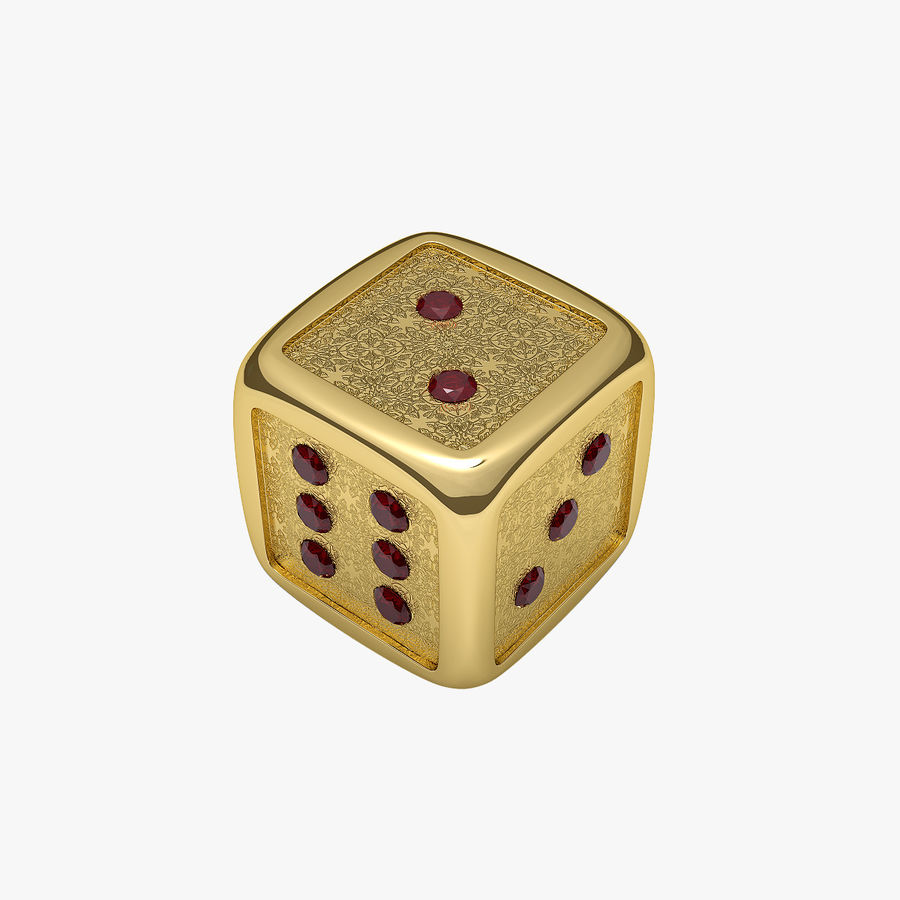 Casino Dice royalty-free 3d model - Preview no. 1