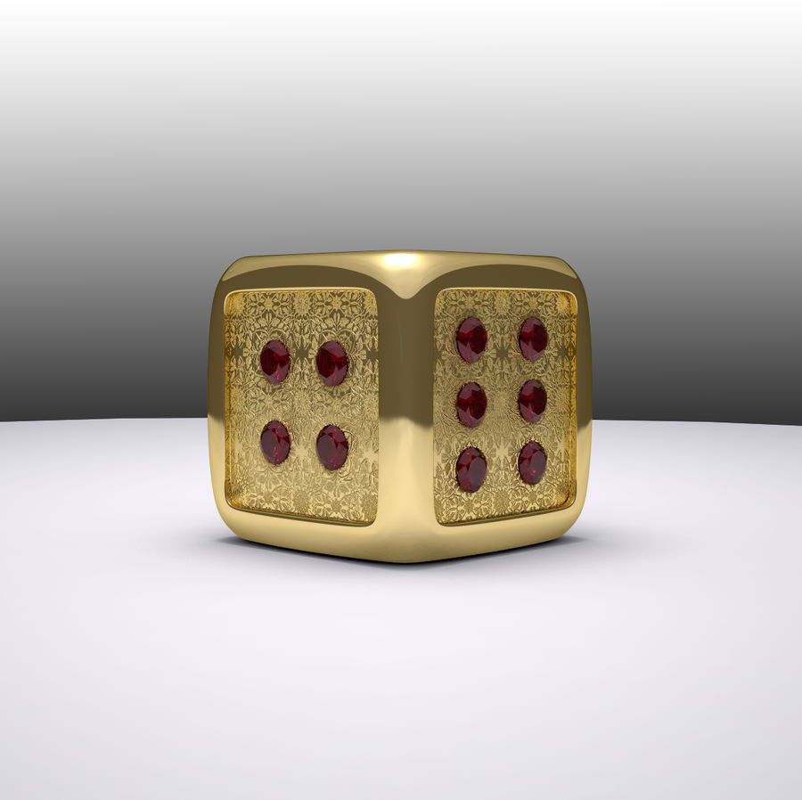 Casino Dice royalty-free 3d model - Preview no. 4