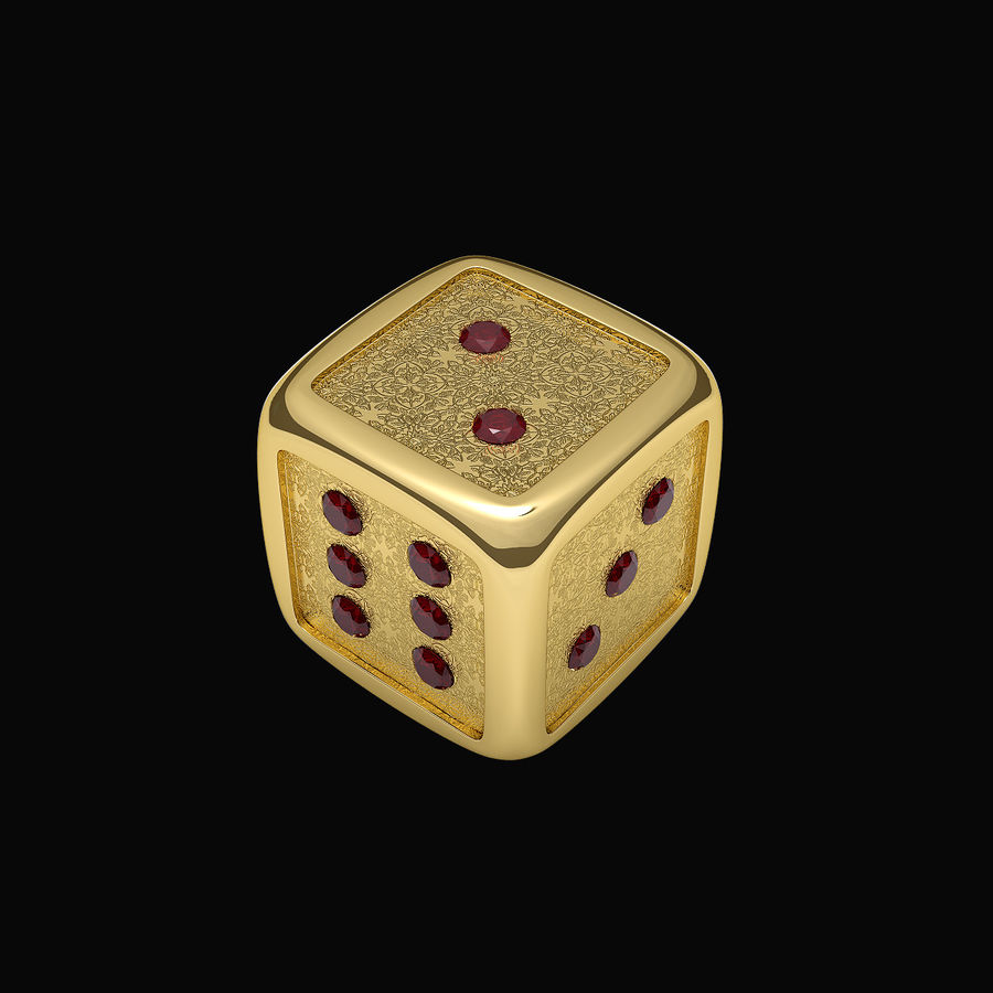 Casino Dice royalty-free 3d model - Preview no. 2