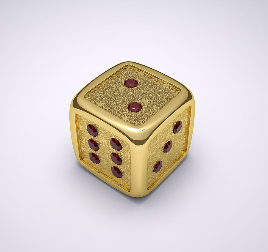 Casino Dice royalty-free 3d model - Preview no. 3