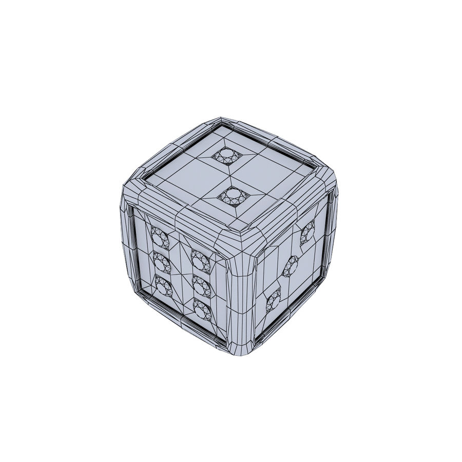 Casino Dice royalty-free 3d model - Preview no. 9