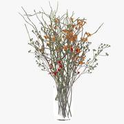 야생화 꽃병 3d model