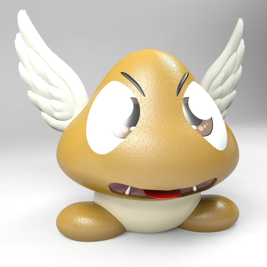 Goomba royalty-free 3d model - Preview no. 4