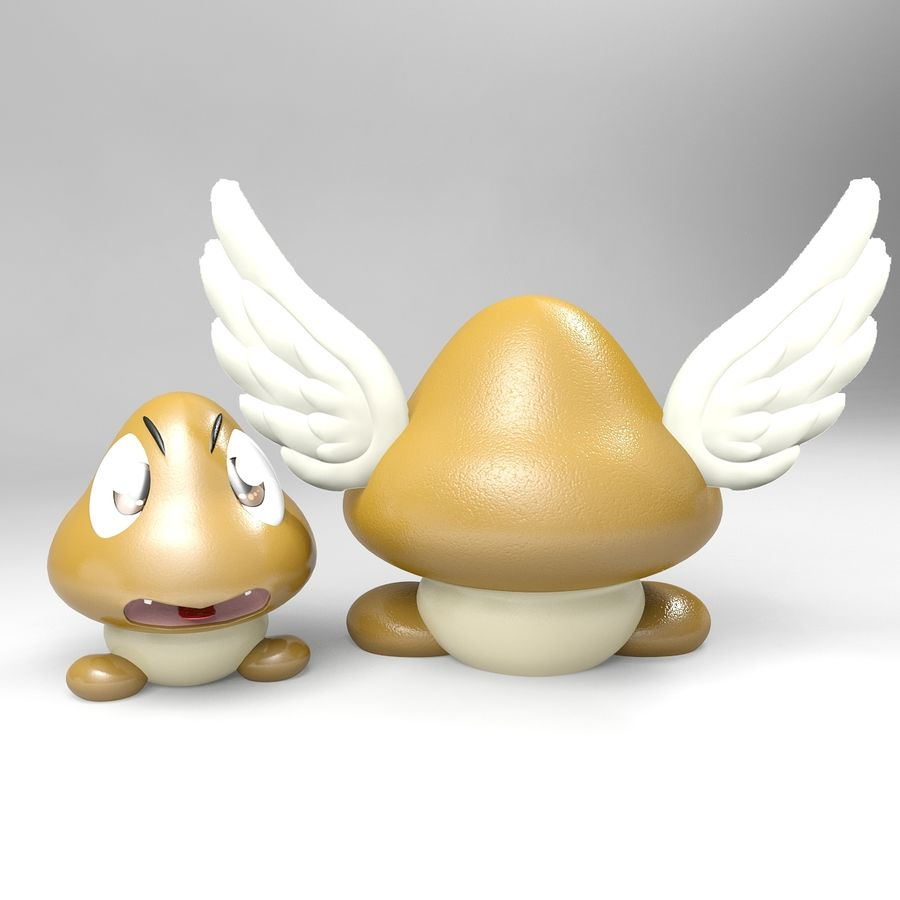 Goomba royalty-free 3d model - Preview no. 6