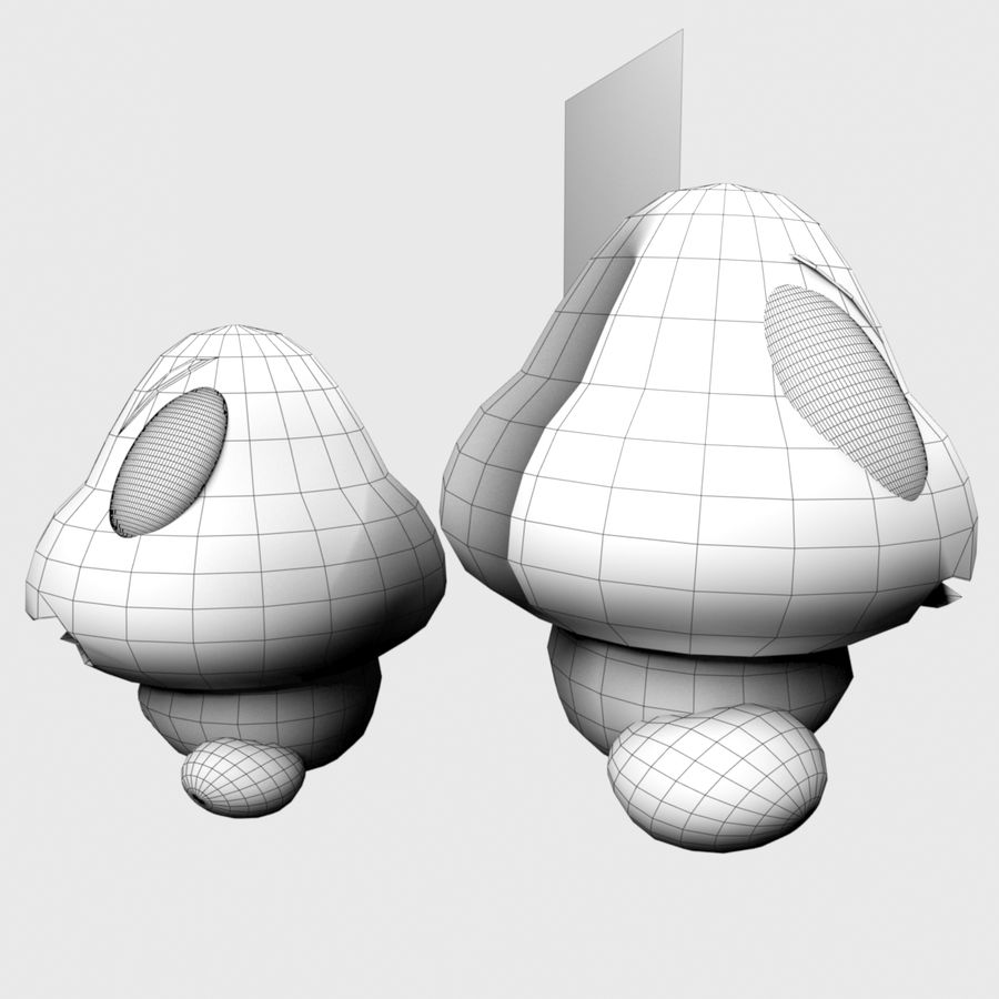 Goomba royalty-free 3d model - Preview no. 9