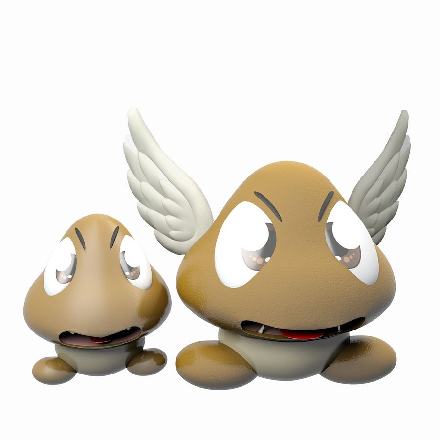 Goomba royalty-free 3d model - Preview no. 1