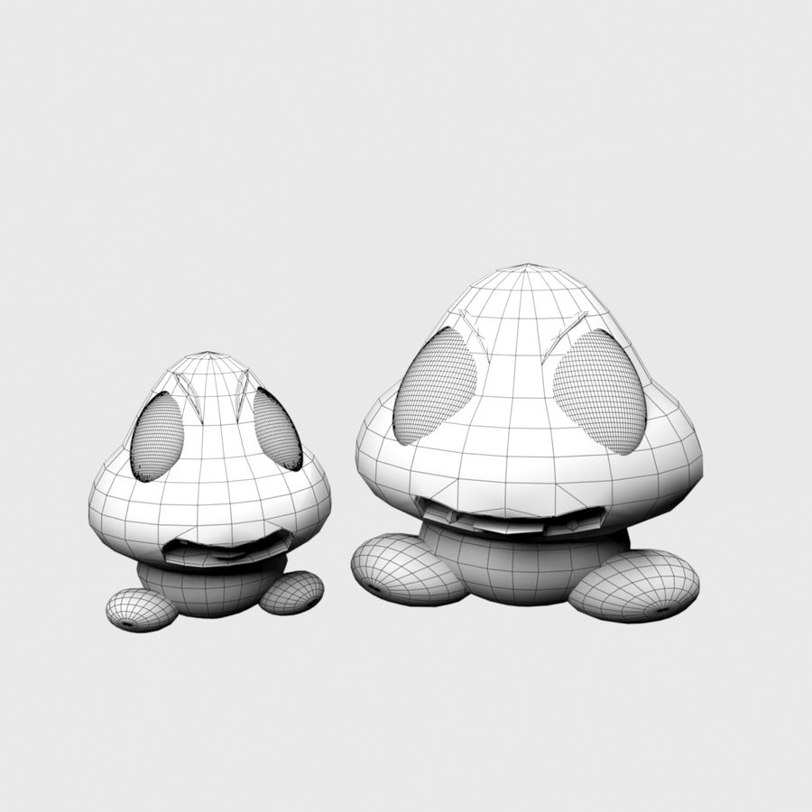 Goomba royalty-free 3d model - Preview no. 7