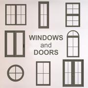 창문과 문 3d model