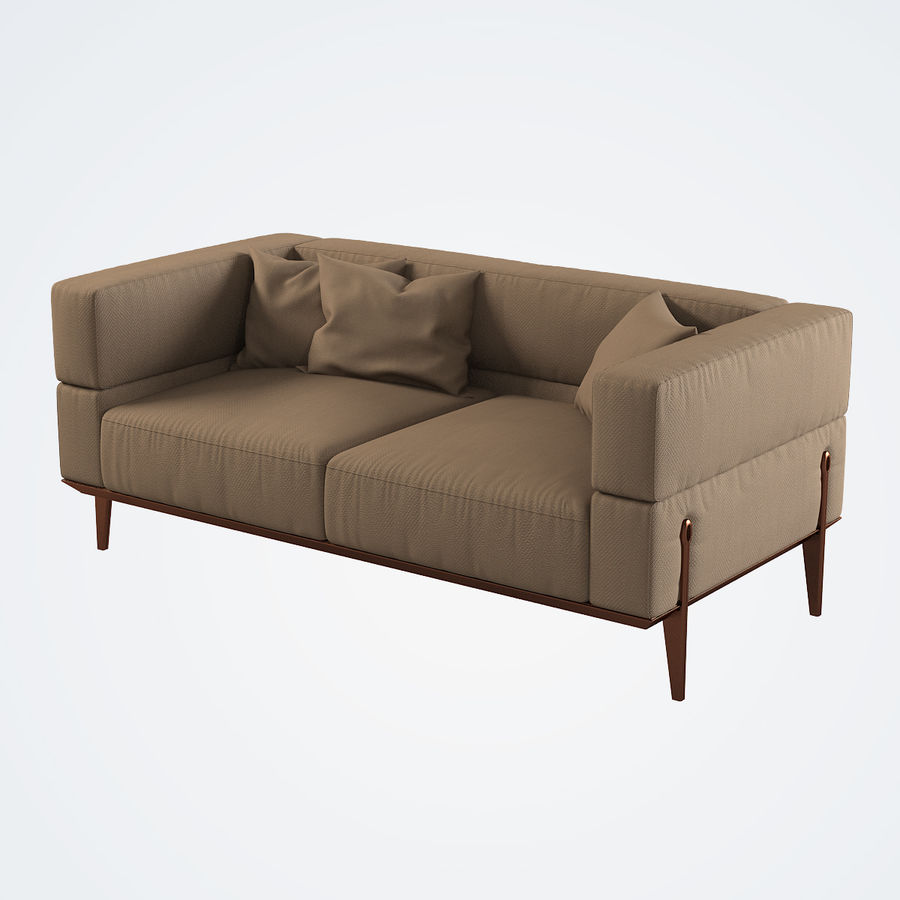 Giorgetti Ago Sofa royalty-free 3d model - Preview no. 2