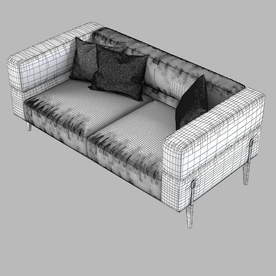 Giorgetti Ago Sofa royalty-free 3d model - Preview no. 6