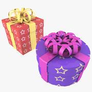 Christmas Gift Boxes 3d model
