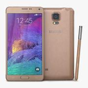 Samsung Galaxy Note 4 bronsguld 3d model