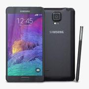 三星Galaxy Note 4木炭黑 3d model