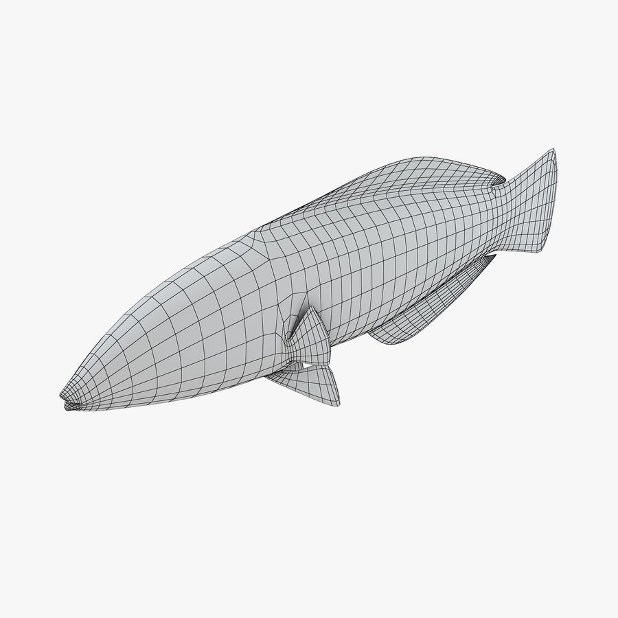 Canary Wrasse royalty-free 3d model - Preview no. 8