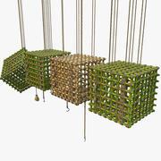 Jungle Bamboo Cage Set 3d model