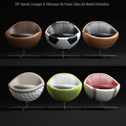 Salones deportivos - y - Otomanas modelo 3d