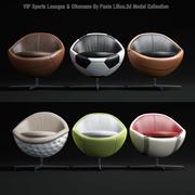 Sport-Lounge - & - ottomani 3d model