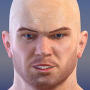 Herói atlético masculino 3d model