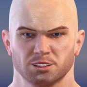 Héros athlétique masculin 3d model