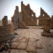 模块化城堡废墟 3d model