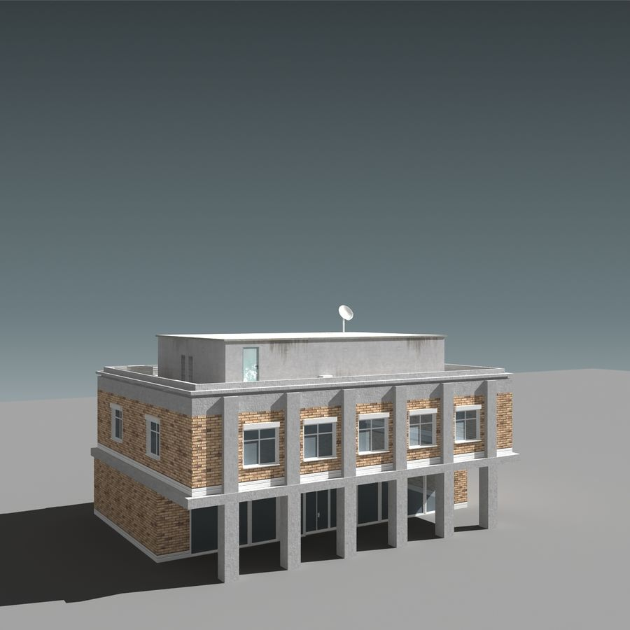 模块化建筑 royalty-free 3d model - Preview no. 4