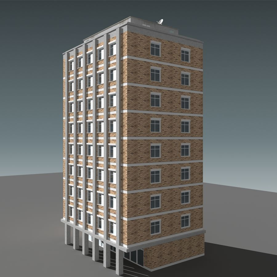 模块化建筑 royalty-free 3d model - Preview no. 10