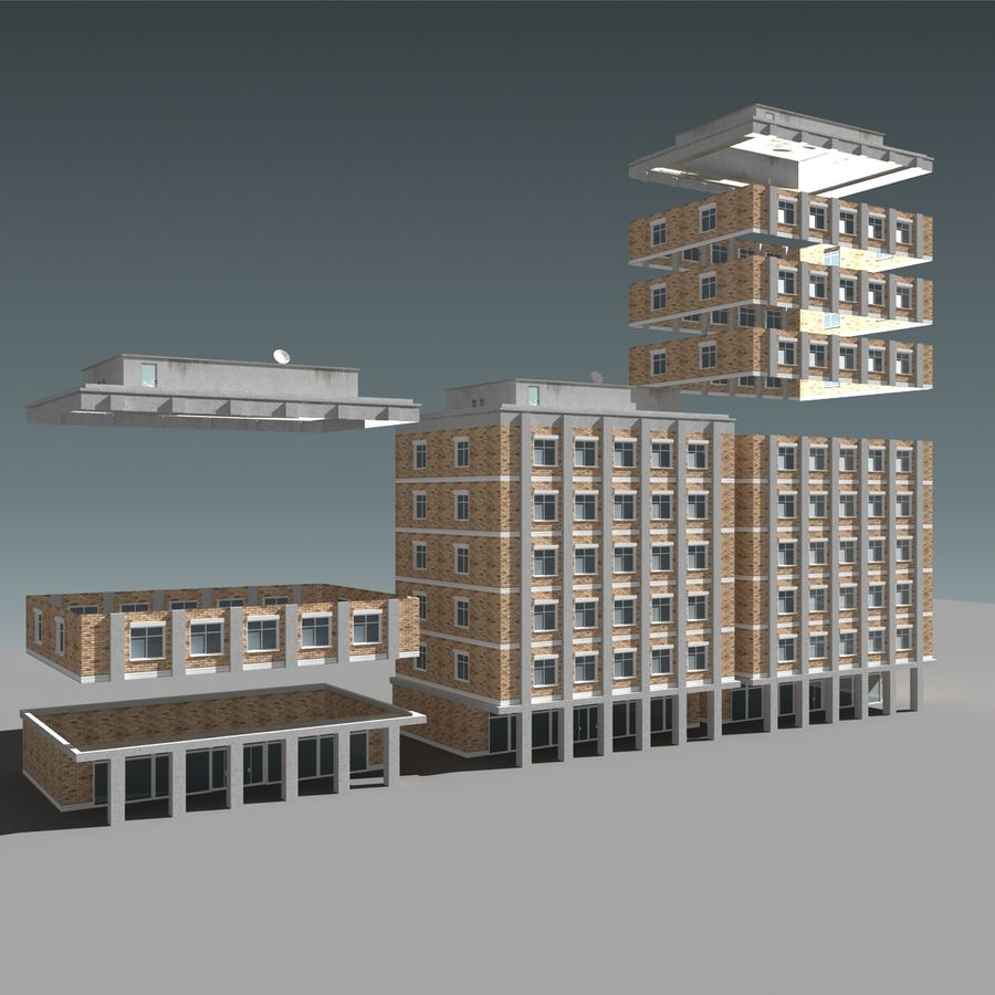 模块化建筑 royalty-free 3d model - Preview no. 2
