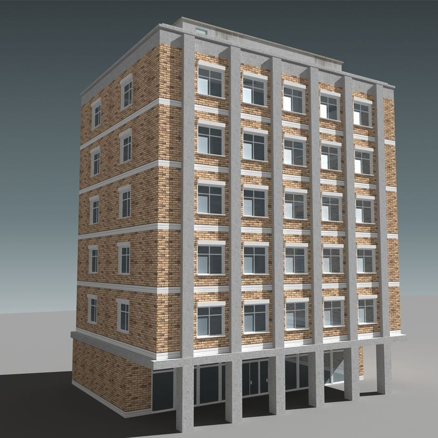 模块化建筑 royalty-free 3d model - Preview no. 3