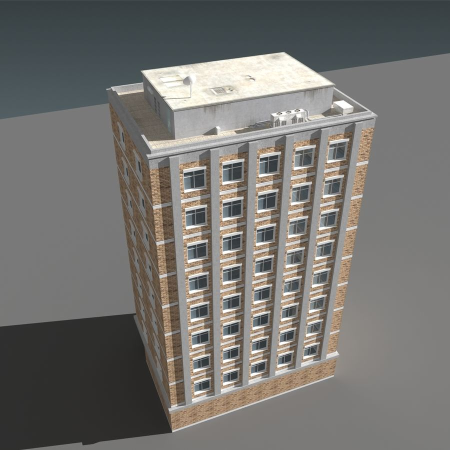 模块化建筑 royalty-free 3d model - Preview no. 12