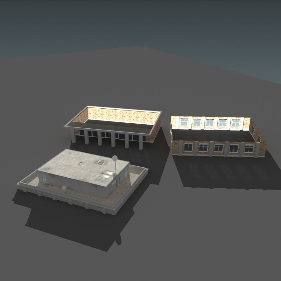 模块化建筑 royalty-free 3d model - Preview no. 13