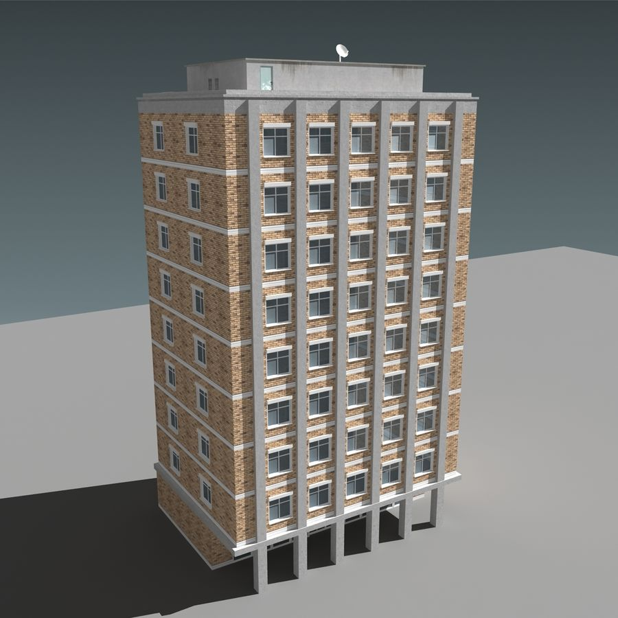 模块化建筑 royalty-free 3d model - Preview no. 8