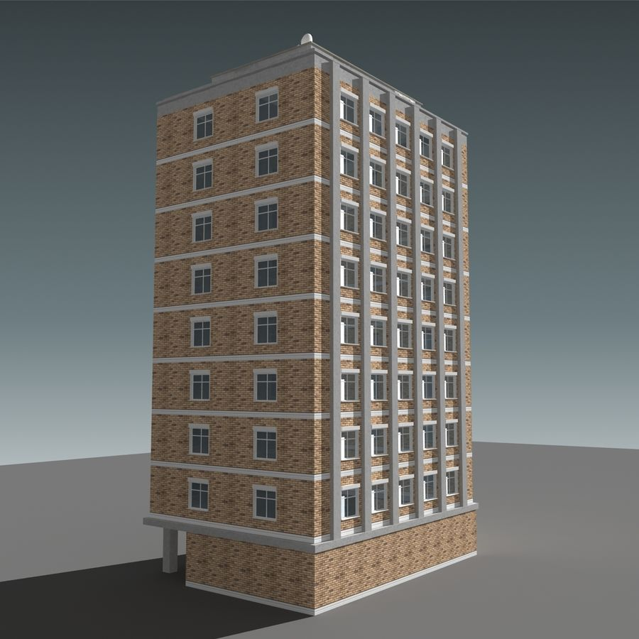 模块化建筑 royalty-free 3d model - Preview no. 11